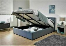 """3' 4' 4'6"""" 5' Faux Leather Ottoman Gas Lift Up Storage Bed Black Brown White"""