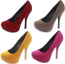Women Sexy Party Round Toe Dress Casual High Heel Stilettos Wedding Pump Shoes