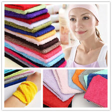 Women Cotton Terry Cloth Elastic Headband Stretch Hairband Wristband Turban Yoga