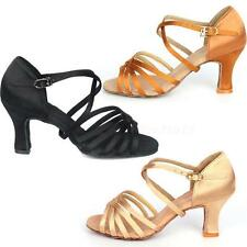 Hot Sale 7cm High Heel Adult Female Latin Modern Ballroom Dancing Shoes HYDG