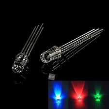 100 pcs 5mm RGB Tricolor LED Light Emitting Diode Common Cathode/ Anode Bright