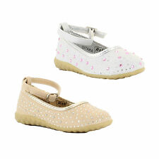 Girls Infants Dress Up Bridesmaid Christening Wedding Shoes Sandals Sizes 3 to 9