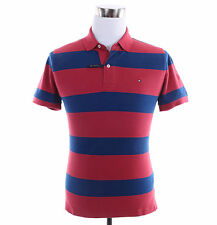 Tommy Hilfiger Men Short Sleeve Stripe Custom Fit Pique Polo Shirt -Free $0 Ship