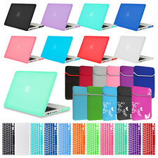 """Matte Rubberized Hard Case Keyboard Cover for Macbook AIR 13"""" & PRO 13"""" w Retina"""