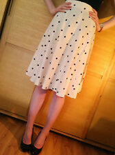 ♥New RIVER ISLAND Polka Dot Spotted Midi Skirt Size 6 8 10 12 14 16 18 RRP £28♥