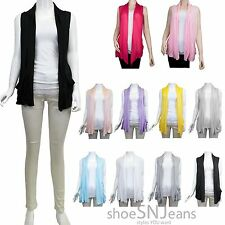 NEW Solid Front Open Draped Sleeveless Pockets Cardigan Solid Casual Tops