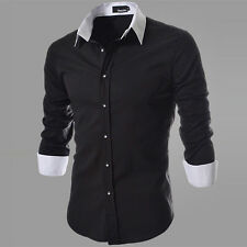 2014 Collection Mens Luxury Fashion Slim Fit Dress Shirt Tops 4Colour Available