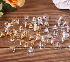 50Pcs Silver Golden Earnuts Earring Backs Stoppers Findings Useful Jewelry New