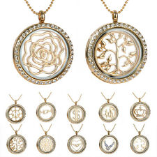 Living Memory Locket Pendants Necklaces & Bracelets For Floating Charms crystal