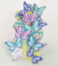 Butterfly Cascade 3D Card, Female, Girls Birthday, Get Well Soon, Mothers Day