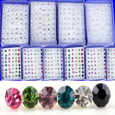 Wholesale Lots 20 Pairs Clear Crystal Earring Studs 1 Box Allergy Free Neddle