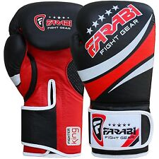 Farabi Boxing Gloves, Pro Quality Kick Boxing Muay Thai Bags Pads Workout Gloves
