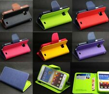 Deluxe Wallet Leather Flip TPU Skin Cell Case Cover For Samsung Galaxy S2 i9100