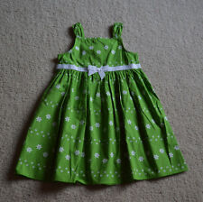 "NWT! Girl's Gymboree ""Daffodil Garden's"" Sleeveless Green/White Dress"