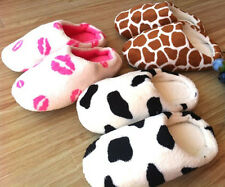 Fashion Men Women Cute Animal Cotton Soft Warm Slippers Winter Indoor Home Shoes