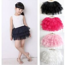 Girls Kids Baby Cute Full Tutu Tulle Tier 6 Layer Cake Mini Skirt In one Size
