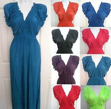 XL/2X/3X Women PLUS SIZE maxi long summer beach V-Neck sundress dress gown HOT