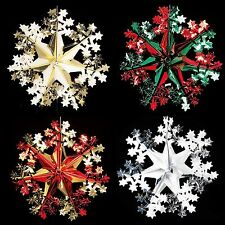 Christmas Foil Ceiling Decoration Hanging 40cm Star Snowflake -  4 Colours