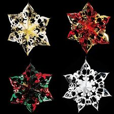 Christmas Foil Ceiling Decoration Hanging 40cm Star -  4 Colours