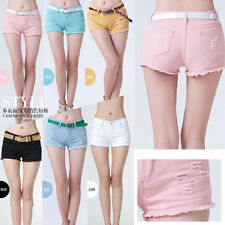 Pretty Women's/Girl's Fitted Mini Candy Color Denim Short Jeans Pants 7 Size