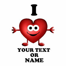 I LOVE ( heart ) Personalised text / name t shirt iron on transfer valentines 32