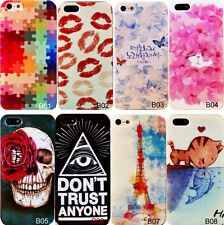 Cute Designed Pattern Hard Back Shell Skin Case Cover For iPhone4/4S/5/5S/5C