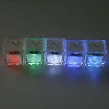 FANTACY LIGHT UP LED ICE CUBE WATER LIGHTING GLASS LAMP FOR BAR PARTY WEDDING