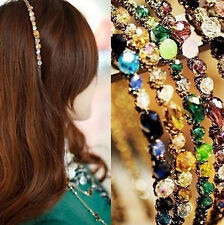 New Fashion Exquisite Crystal Rhinestone Barrette Hair Fascinator Hair Band JT13