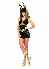 Sexy Egyptian Sphinx Anubis Dress and Headpiece Outfit Adult Halloween Costume