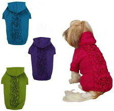 CHOOSE SIZE & COLOR - LUCY RUFFLE HOODIE - Zack & Zoey - DOG SWEATER SHIRT