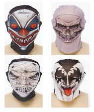 Scary Skin Tight Tattoo Style Net Horror Halloween Face Masks NEW