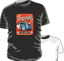 KOOLART PETROLHEAD SPEED SHOP VW T4 TRANSPORTER VAN mens or ladyfit t-shirt B/W