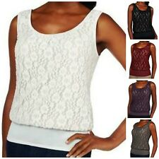 Kathleen Kirkwood Undercover Agent Lace Overlay Cami A224299