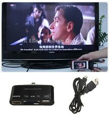New Micro USB OTG SD TF Card Reader Writer HUB MHL to HDMI HDTV TV Adapter #3235