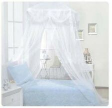 White Ruffle Mosquito Net Bed Canopy Princess Bedding Twin / Queen / King Size