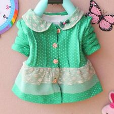 1PC New Baby Girls  lace  green  outerwear  Tops  Clothes  size: (0-3 years)