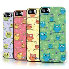 STUFF4 Back Case/Cover/Skin for Apple iPhone 5/5S/Cute Owl Pattern
