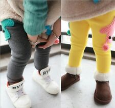 Kids Toddler Clothing Girls Bounce Leggings Pure Color Trousers Pants Ages 9M-2Y