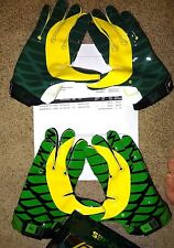 Nike Oregon Ducks Football Vapor Jet 2.0 New mens Receiver Gloves Apple Green