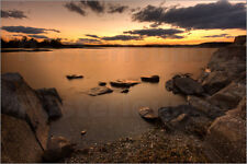 "Poster / Leinwandbild ""Sea at sunset"" - Morten Prom www.mortenprom.no"