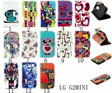 For LG G2 Mini D620 / D620R Magnetic PU Leather slot Hybrid wallet Cover Case