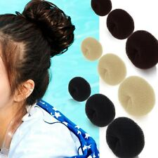 2pcs FORMER STYLE DOUGHNUT TIE UPDO UP FASHION HAIR BUN DONUT SHAPER RING STYLER