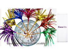 """Coco&Bo Cocktail Party 6"""" Metallic Glitter Sticks Christmas Drink Decorations"""