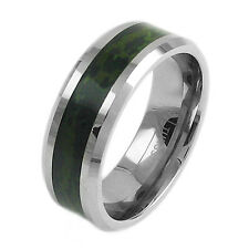 Tungsten Men's Dark Forest Camouflage Camo Hunting Band Ring Size 9-13