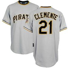 Roberto Clemente Pittsburgh Pirates Cooperstown Road Jersey w/ HOF 75th Patch
