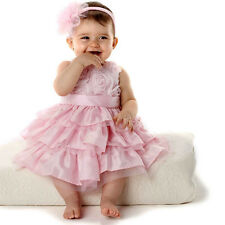 2pcs Girl Kids Baby Party Headband+Dress Layered Rose Tutu Clothing Set Princess