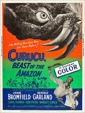"Poster / Leinwandbild ""CURUCU, BEAST OF THE AMAZON, l-r: John Bromfield, Be..."""