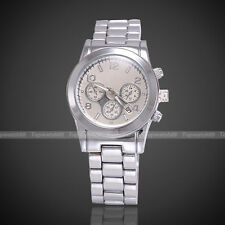 New style 2014 Newest Shiny Stainless Steel WOMENS/MENS Wrist Watch 4 Color