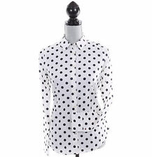 Tommy Hilfiger Women Long Sleeve Polka Dot Button Down Shirt - Free $0 Shipping