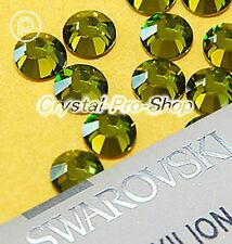 GENUINE Swarovski Olivine (228) Iron On ( Hot fix ) Crystal Flatback Rhinestones
